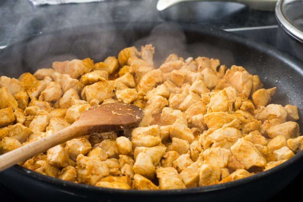 chicken in the pan