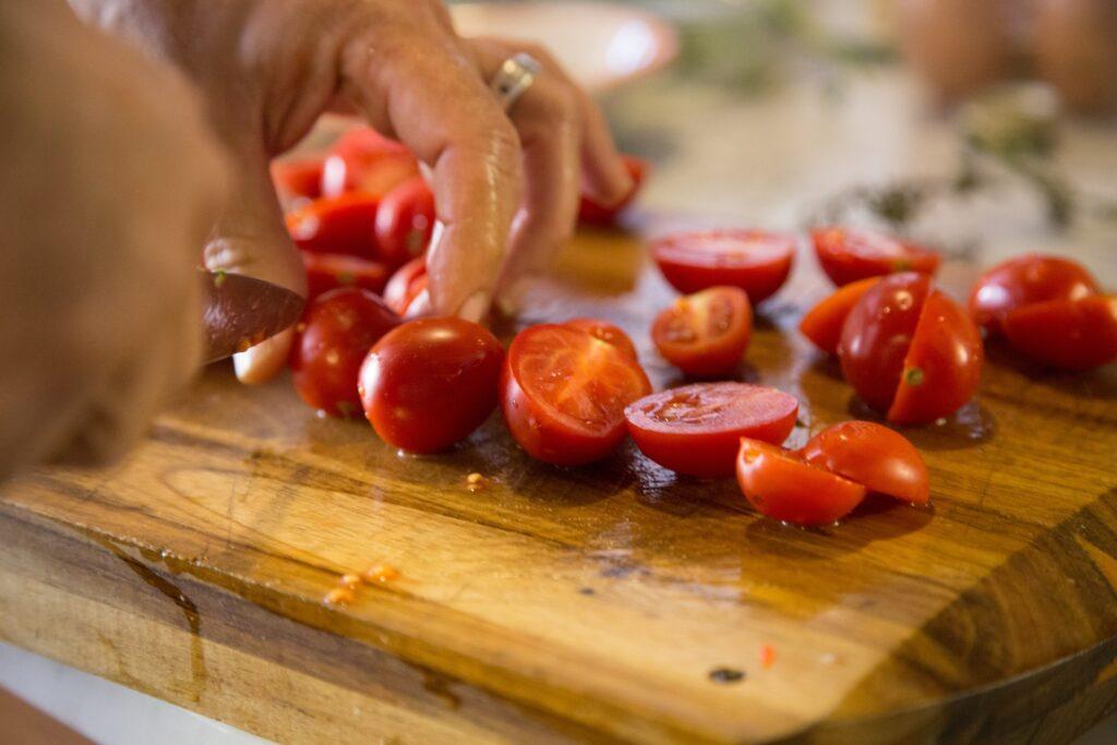 cut cherry tomatoes
